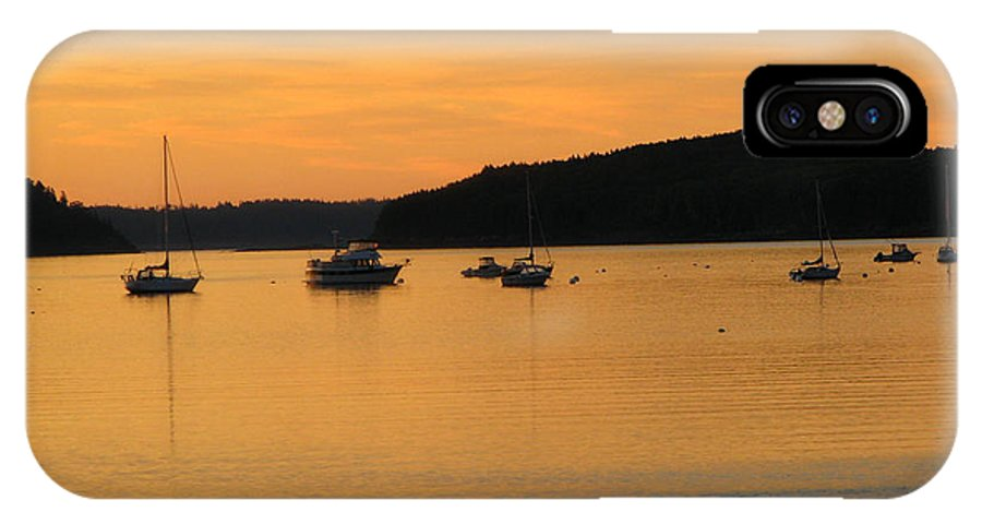 Bar Harbor IPhone X Case featuring the photograph Bar Harbor Sunrise 3 by George Jones