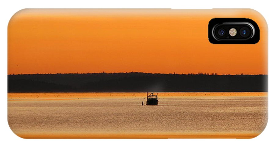 Bar Harbor IPhone X Case featuring the photograph Bar Harbor Sunrise 4 by George Jones