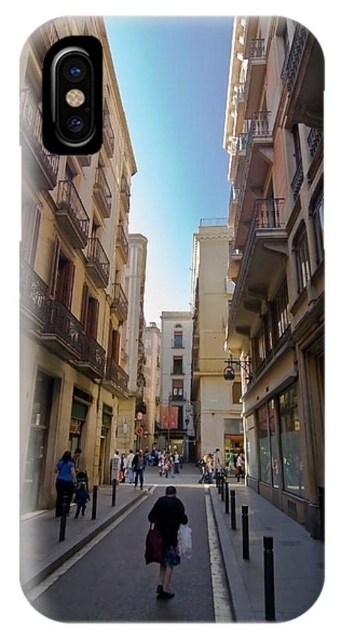 Barcelona IPhone X Case featuring the photograph Barcelona Street Scene by Sven Brogren