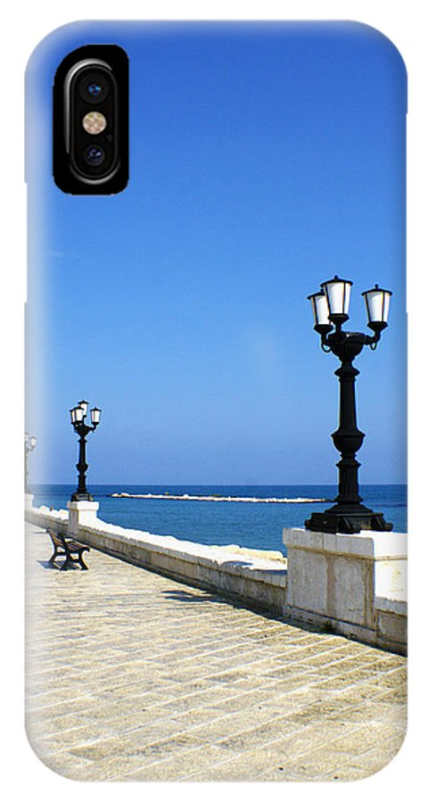 Bari IPhone X Case featuring the photograph Bari Waterfront by Rob Tullis