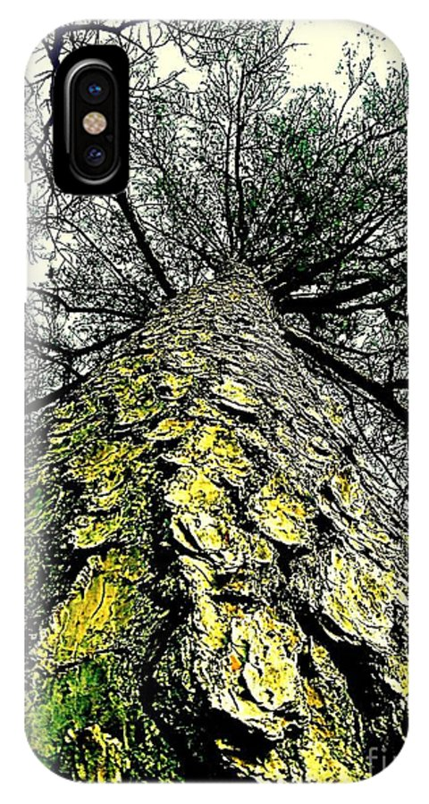 Feliciana IPhone X Case featuring the photograph Bark Up The Tall Pine Tree Abstract In Felicina Louisiana by Michael Hoard