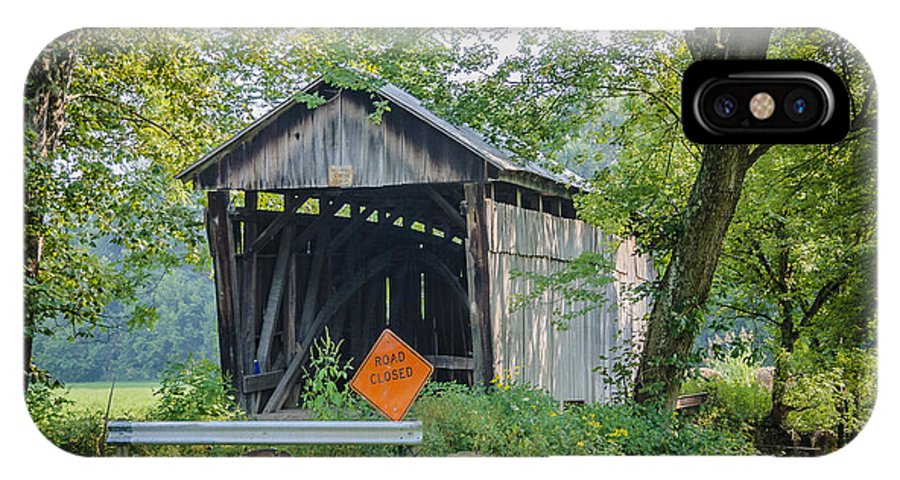 America IPhone X / XS Case featuring the photograph Barkhurst Covered Bridge by Jack R Perry