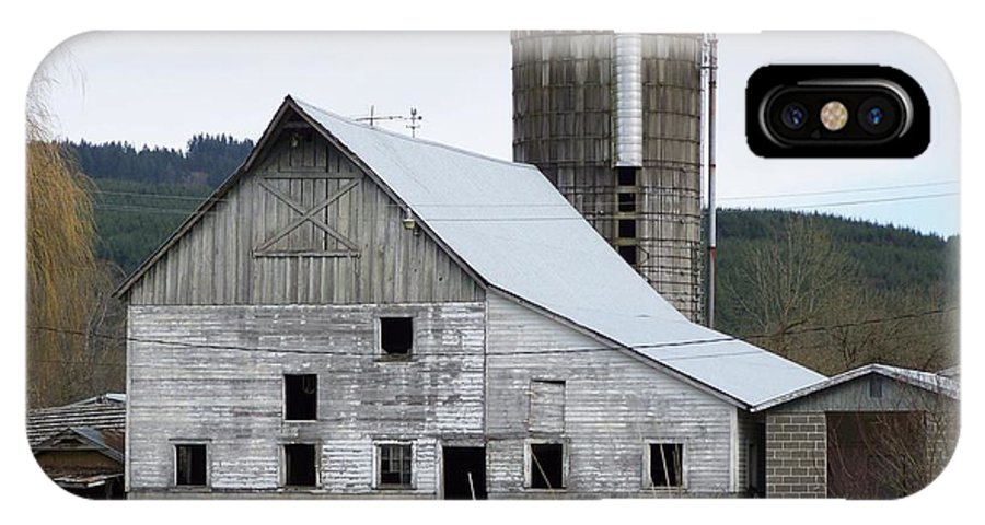 Digital Photography IPhone Case featuring the photograph Barn And Silo by Laurie Kidd