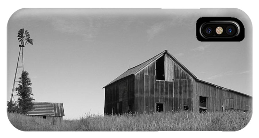 Landscape IPhone X Case featuring the photograph Barn and Windmill II by Dylan Punke