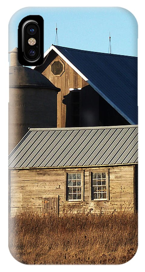 Barn IPhone X Case featuring the photograph Barn At 57 And Q by Tim Nyberg