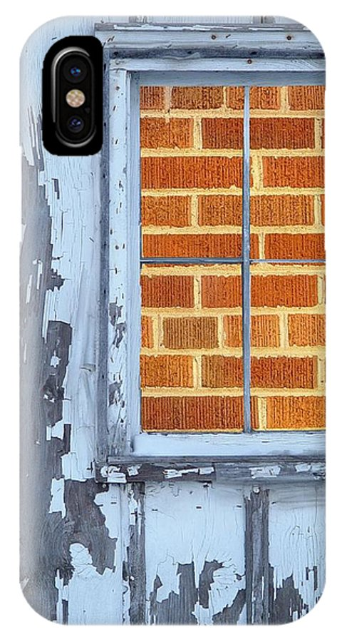 Barn IPhone X Case featuring the photograph Barn Brick Window by Tim Allen