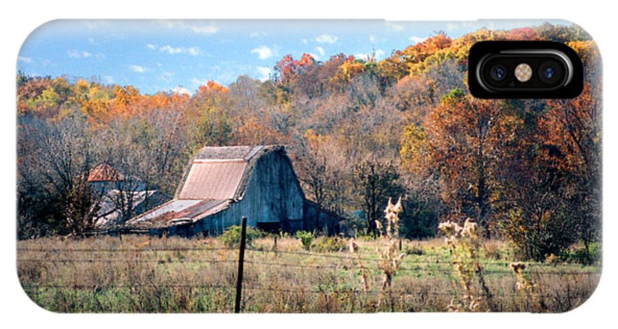 Landscape IPhone X Case featuring the photograph Barn In Liberty Mo by Steve Karol