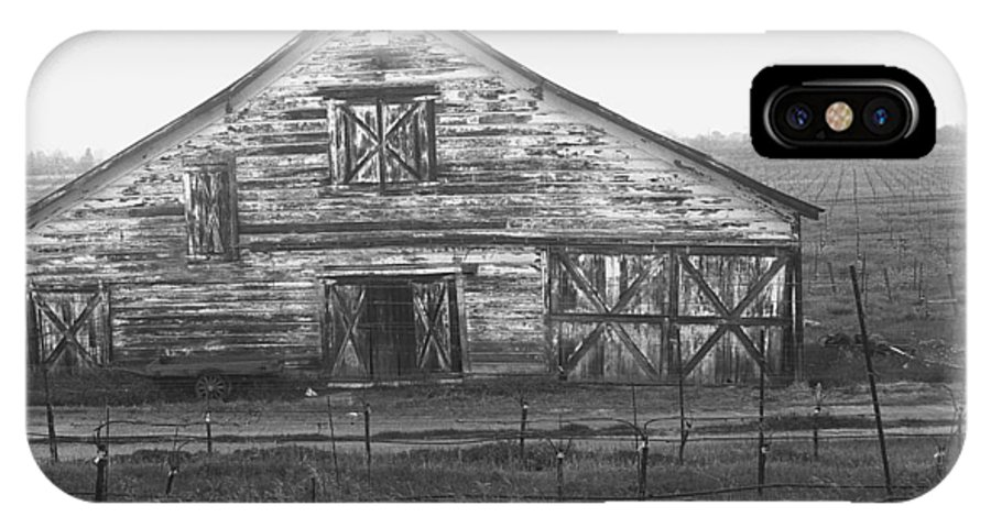 Barn IPhone X Case featuring the photograph Barn Of X by Tom Reynen