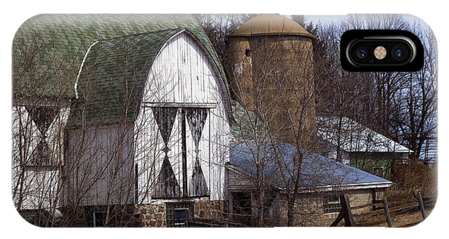 Barn IPhone X Case featuring the photograph Barn On 29 by Tim Nyberg