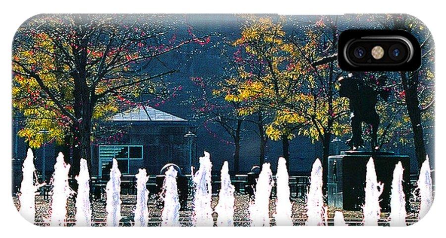 Landscape IPhone X Case featuring the photograph Barney Allis Plaza-kansas City by Steve Karol