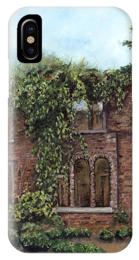 Barnsley Gardens IPhone X Case featuring the painting Barnsley Gardens Ruins II by Freida Petty