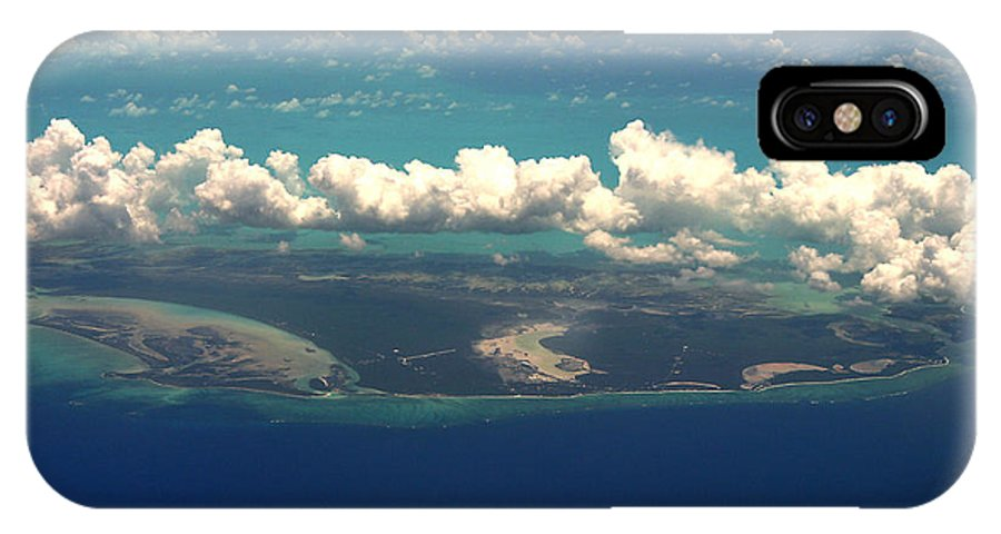 Clouds IPhone X Case featuring the photograph Barrier Island In Caribbean by Carl Purcell