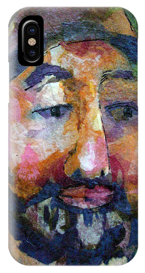 Beard IPhone Case featuring the painting Barry Hornblower by Arline Wagner