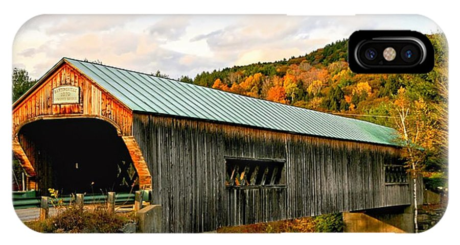 Covered Bridge IPhone X / XS Case featuring the photograph Bartonsville Covered Bridge by DJ Florek