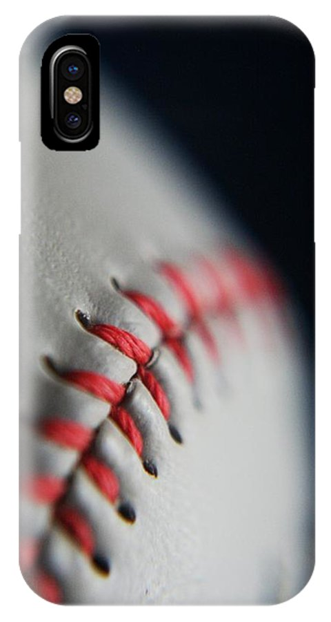 Photograph IPhone X Case featuring the photograph Baseball Fan by Rachelle Johnston
