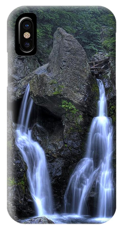 Waterfall IPhone X Case featuring the photograph Bash Bish Falls by Scott Wyatt