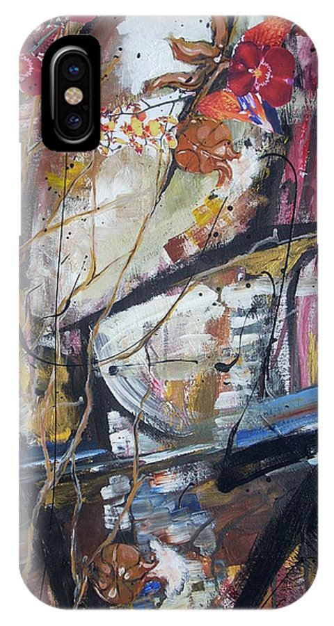 Basketball IPhone X Case featuring the painting Basket-boll Dreams by Hasaan Kirkland
