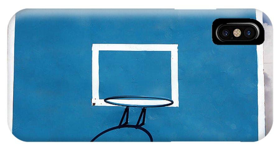 Backboard IPhone X / XS Case featuring the photograph Basketball Backboard by Robert Hamm