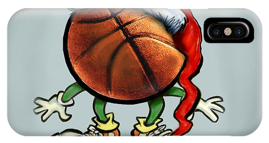 Basketball IPhone X / XS Case featuring the greeting card Basketball Christmas by Kevin Middleton