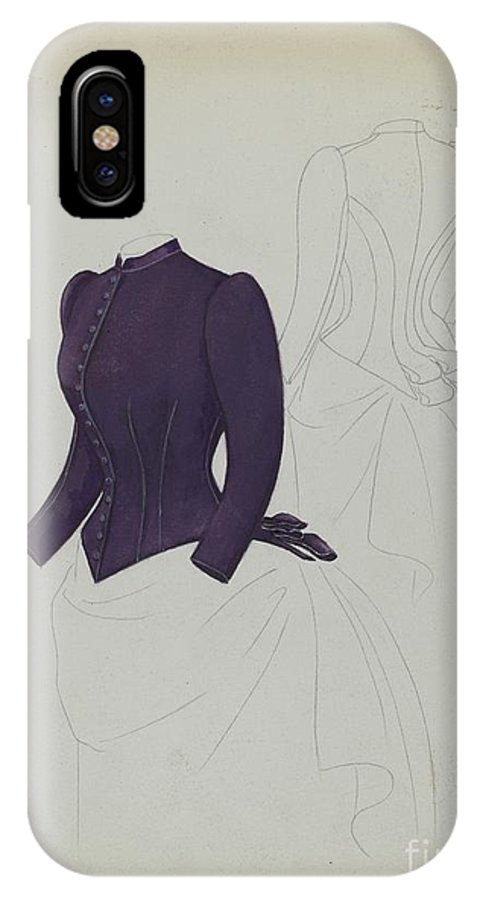 IPhone X Case featuring the drawing Basque by Melita Hofmann