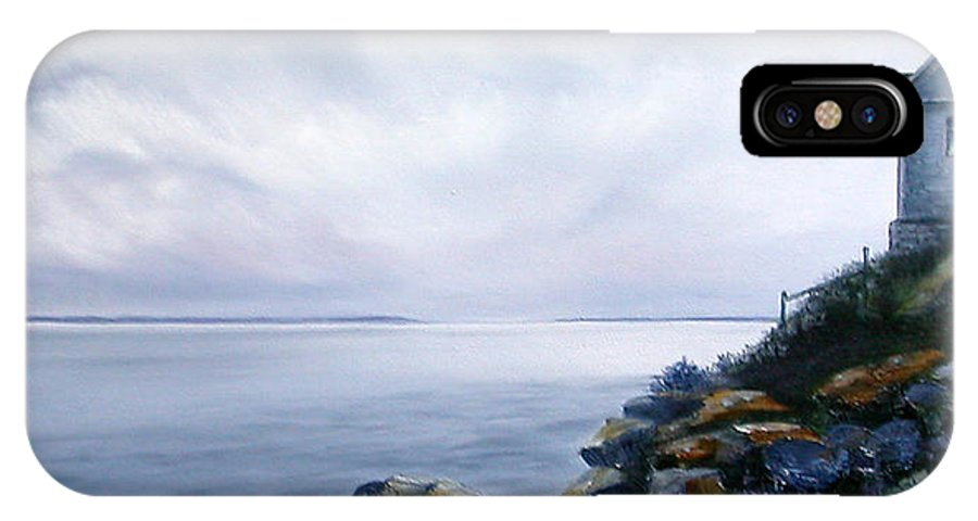 Ocean IPhone Case featuring the painting Bass Harbor Maine by Brenda Ellis Sauro