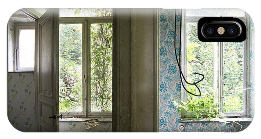 Castle IPhone X Case featuring the photograph Bath Room Windows -urban Exploration by Dirk Ercken