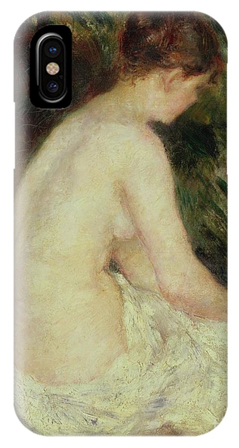 Bather IPhone X Case featuring the painting Bather by Pierre Auguste Renoir