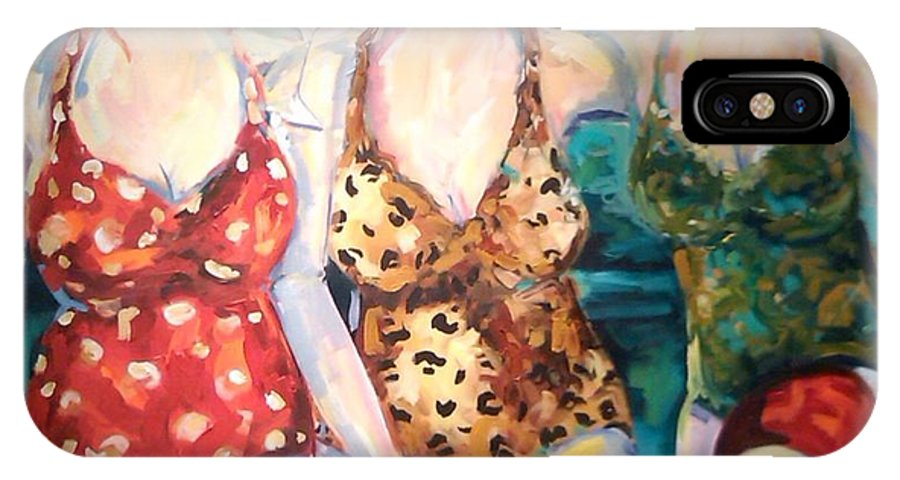 Figure IPhone X / XS Case featuring the painting Bathing Beauties by Heather Roddy