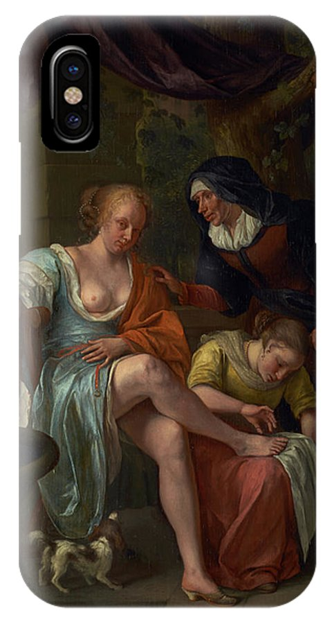 Painting IPhone X / XS Case featuring the painting Bathsheba After The Bath by Mountain Dreams