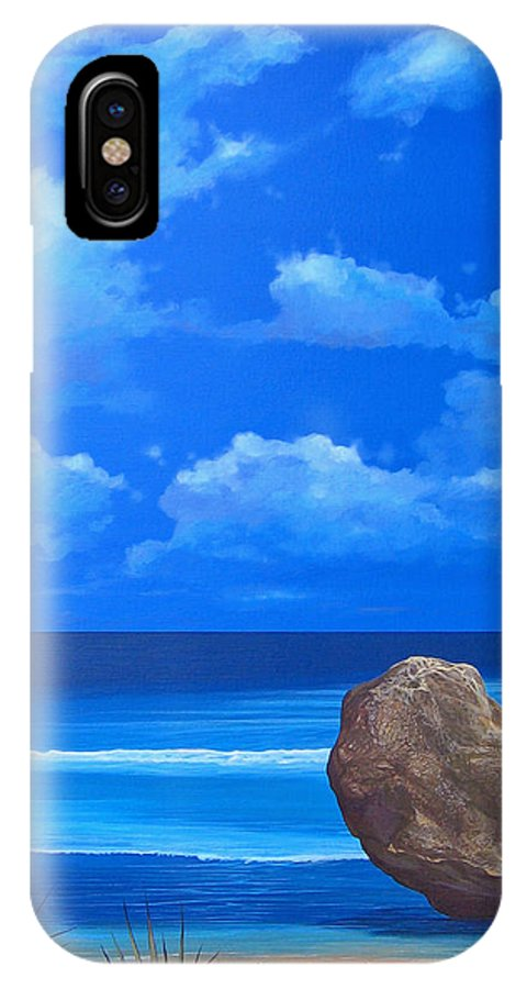 Barbados IPhone X Case featuring the painting Bathsheba by Hunter Jay