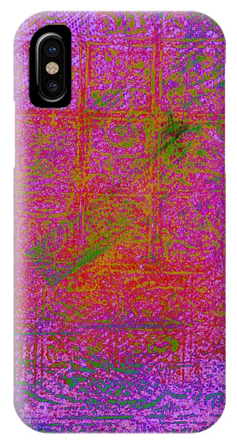 IPhone X Case featuring the digital art Batiky5 by Phil Rodriguez