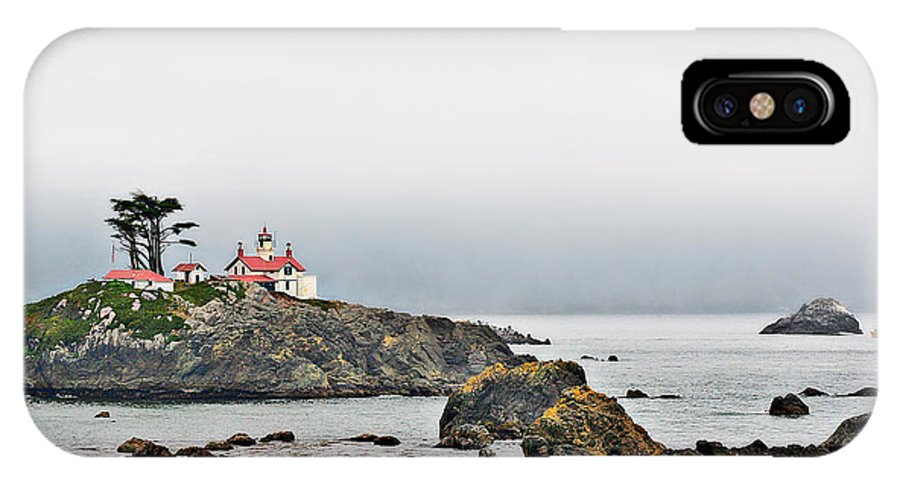 Battery Point Lighthouse IPhone X Case featuring the photograph Battery Point Lighthouse California by Christine Till