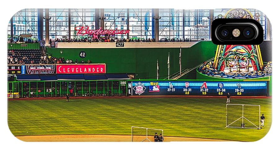 Marlins Park IPhone X Case featuring the photograph Batting Practice by Pixabay