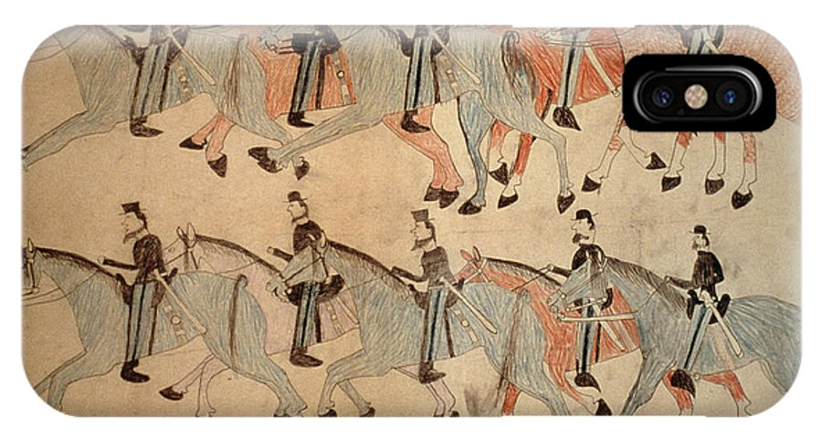 1876 IPhone X Case featuring the photograph Battle Of Little Bighorn by Granger