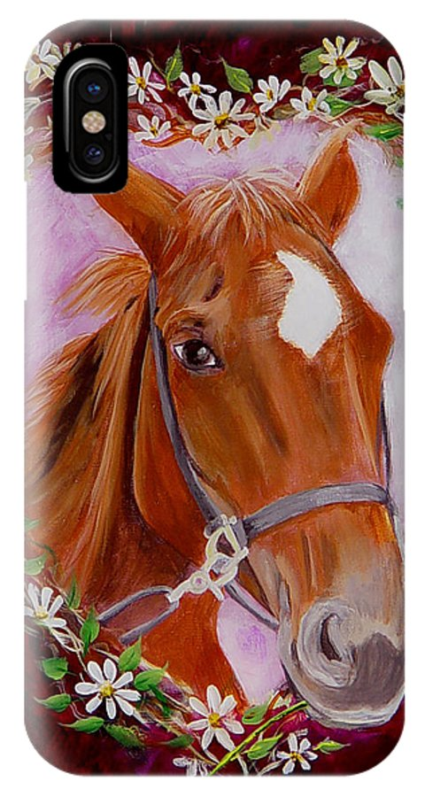 Horse IPhone Case featuring the painting Batuque by Quwatha Valentine