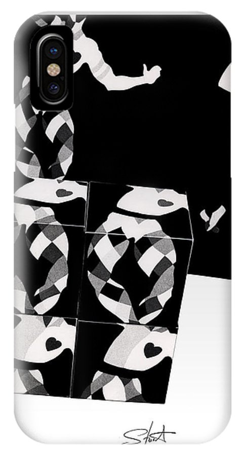 Dance IPhone X Case featuring the photograph Bauhaus Ballet 2 The Cubist Harlequin by Charles Stuart