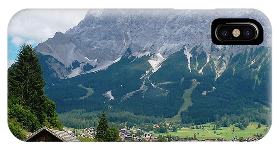 Landscape IPhone X Case featuring the photograph Bavarian Alps Landscape by Carol Groenen