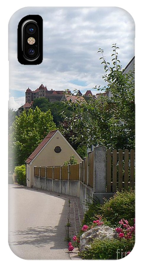 Castle IPhone X Case featuring the photograph Bavarian Village With Castle View by Carol Groenen