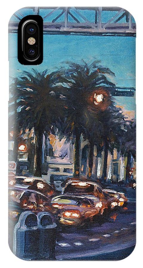 City Scape IPhone Case featuring the painting Bay Bridge by Rick Nederlof