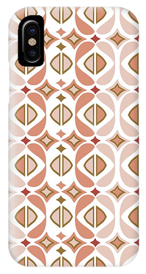 Peach IPhone X Case featuring the digital art Baya Melba by Ceil Diskin