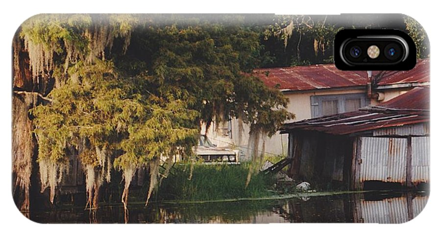 Bayou IPhone X Case featuring the photograph Bayou Shack by Michelle Powell