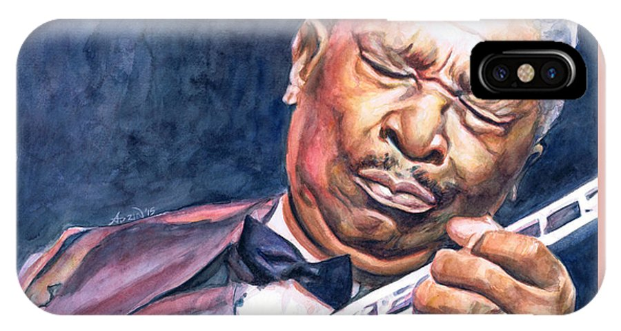 Bb King IPhone X Case featuring the painting Bb King by Adrienne Norris