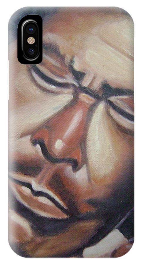 B.b. King IPhone X Case featuring the painting B.b. King by Toni Berry