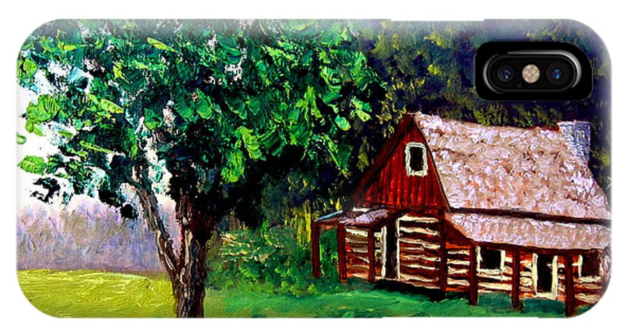Plein Air IPhone X Case featuring the painting Bcsp 5 8 by Stan Hamilton