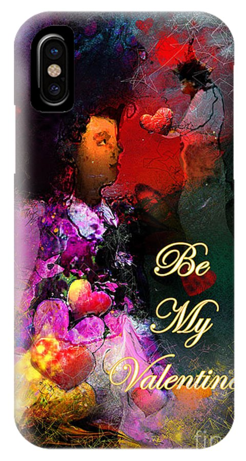 Love IPhone X Case featuring the painting Be My Valentine by Miki De Goodaboom