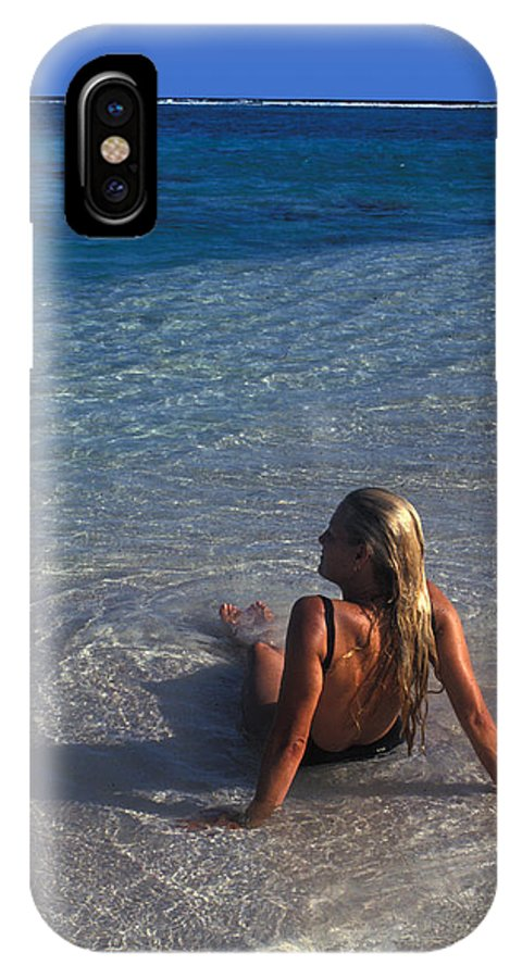 Beautiful IPhone X Case featuring the photograph Beach At Little Cayman by Carl Purcell
