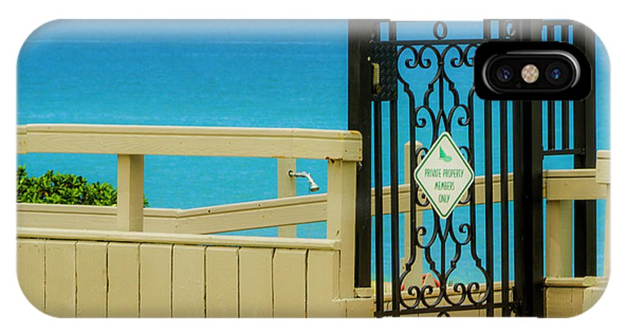 Gate IPhone X Case featuring the photograph Beach Gate by Wolfgang Stocker