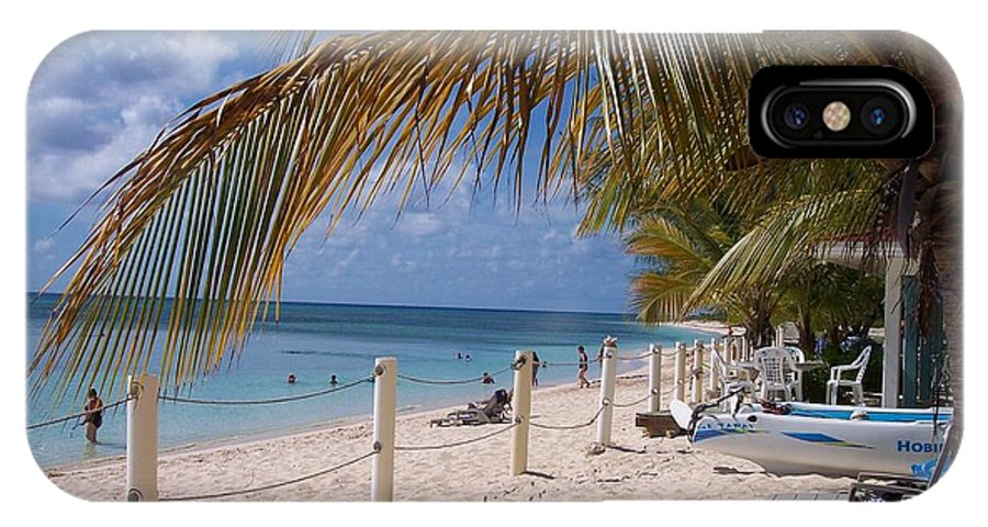 Beach IPhone X Case featuring the photograph Beach Grand Turk by Debbi Granruth