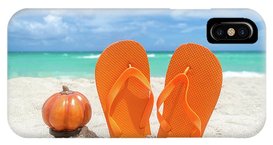 Beach Halloween IPhone X Case featuring the photograph Beach Halloween by Elena Chukhlebova