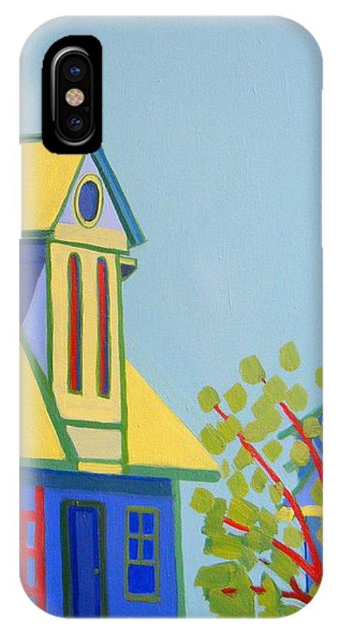 Beach IPhone X / XS Case featuring the painting Beach Houses by Debra Bretton Robinson